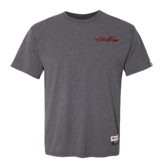 CHAMPION AO200 CHARCOAL HEATHER FRONT RED
